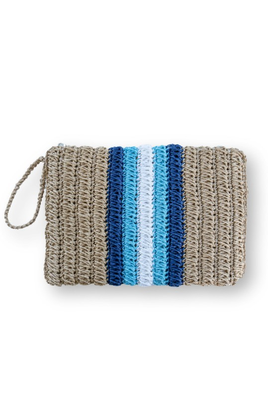 Nina Colorful Wicker Clutch Çanta