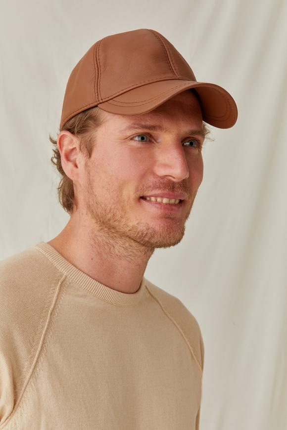 Infinity  Leather Cap